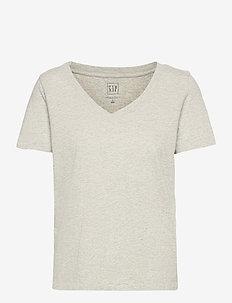 Organic Vintage V-Neck T-Shirt - t-shirts - heather grey