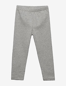 Toddler Leggings In Stretch Jersey - leggings - heather grey