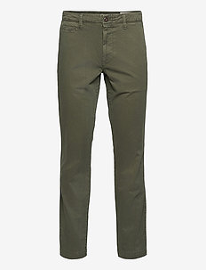 Vintage Khakis in Slim Fit with GapFlex - pantalons chino - forest green 907