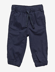 Toddler Pull-On Canvas Joggers - TRUE INDIGO 340