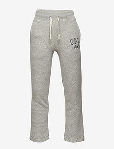 Kids Gap Logo Pants in Fleece - LIGHT HEATHER GREY B10