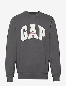 Gap Logo Fleece Crewneck Sweatshirt - sweatshirts - b50-b10 charcoal grey