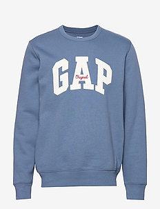 Gap Logo Fleece Crewneck Sweatshirt - BAINBRIDGE BLUE