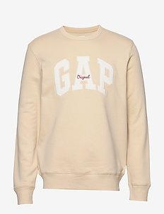 Gap Logo Fleece Crewneck Sweatshirt - sweatshirts - ecru 033