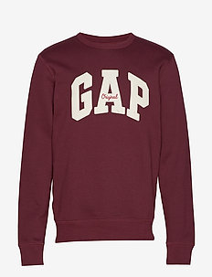 Gap Logo Fleece Crewneck Sweatshirt - EUR PINOT NOIR