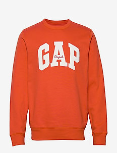 Gap Logo Fleece Crewneck Sweatshirt - sweatshirts - flare orange