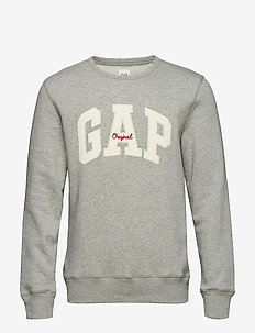 Gap Logo Fleece Crewneck Sweatshirt - HEATHER GREY