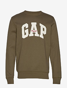 Gap Logo Fleece Crewneck Sweatshirt - sweatshirts - ripe olive