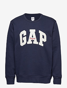 Gap Logo Fleece Crewneck Sweatshirt - TAPESTRY NAVY