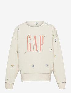 Kids Gap Logo Crewneck Sweatshirt - sweatshirts - ivory frost floral