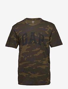 Logo Camo Print T-Shirt - short-sleeved t-shirts - camo print