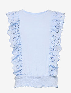 Kids Eyelet Shirt - shirts - bicoastal blue