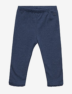 Baby Lace-Trim Leggings - BLUE HEATHER