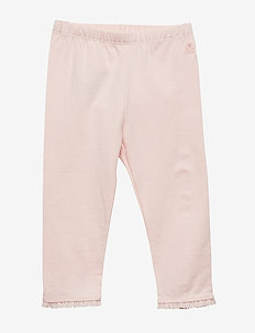 Baby Lace-Trim Leggings - bukser - pink cameo