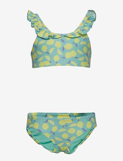Kids Ruffle Lemon Swim Two-Piece - bikinier - lemon print