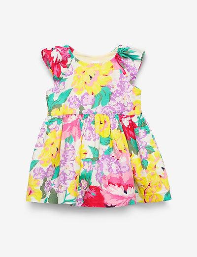 Toddler Flutter Floral Dress - kjoler - holiday floral