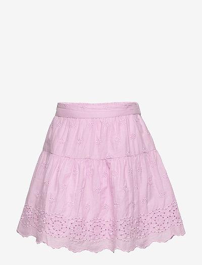 Kids Eyelet Tiered Skirt - nederdele - lavender pink