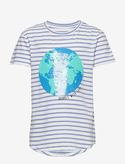 Kids Interactive T-Shirt - kortærmede - blue stripe combo b