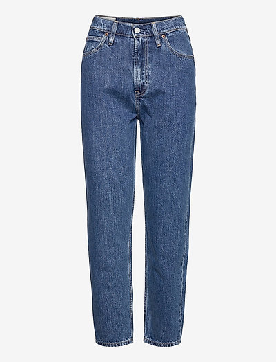 Sky High Rise Mom Jeans - mom jeans - medium indigo 8
