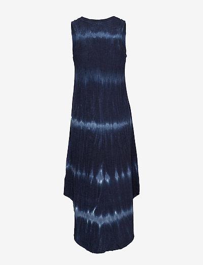 Gap Scoopneck Tie-dye Midi Dress- Kleider Blue Tie Dye