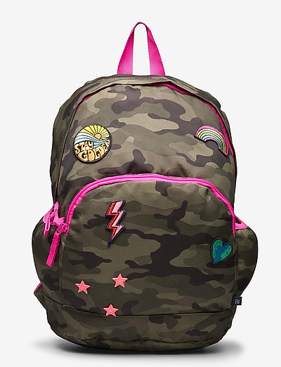 Kids Camo Patch Senior Backpack - rugzakken - green camo