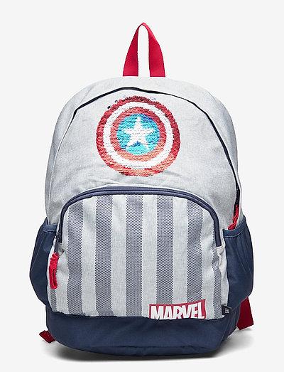 GapKids | Marvel Captain America Senior Backpack - rugzakken - cross dye grey