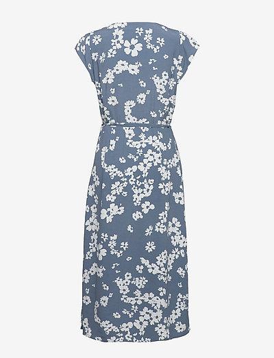 Gap Wrap-front Midi Dress- Kleider Blue Floral