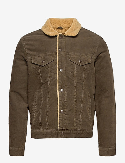 Icon Corduroy Sherpa Jacket - spijkerjassen - canyon brown 760