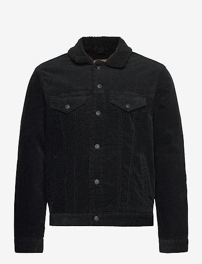 Icon Corduroy Sherpa Jacket - spijkerjassen - true black