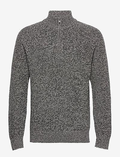Mockneck Shaker Sweater - truien met halve rits - charcoal heather