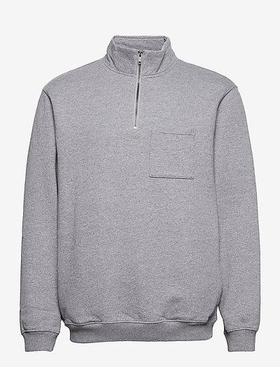Half-Zip Sweatshirt - truien - med heather grey