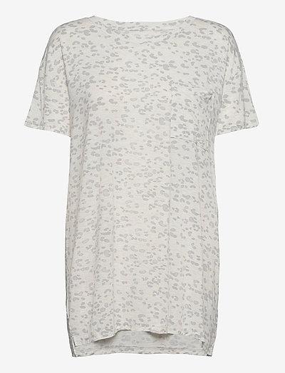 Truesleep Oversized T-Shirt in Modal - tops - stone leopard