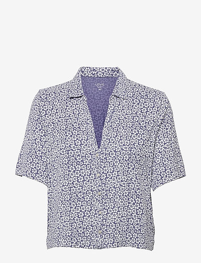 Truesleep Button-Front Top in Modal - hauts - blue floral