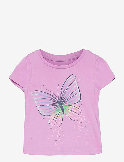 Toddler 100% Organic Cotton Mix and Match Graphic T-Shirt - korte mouwen - butterfly