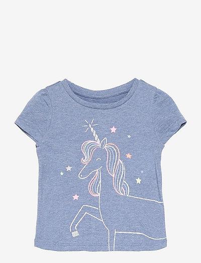 Toddler 100% Organic Cotton Mix and Match Graphic T-Shirt - korte mouwen - unicorn graphic