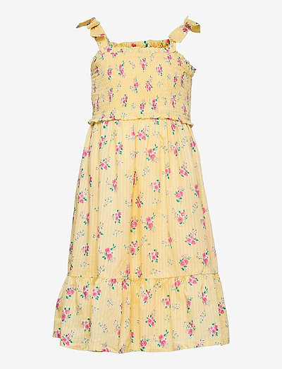 Kids Smocked Floral Dress - jurken & rokjes - yellow flowers