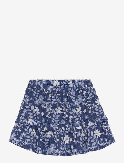 Toddler Floral Midi Skirt - nederdele - blue floral