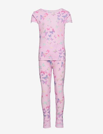 Kids 100% Organic Cotton Butterfly PJ Set - pyjamas - lilac