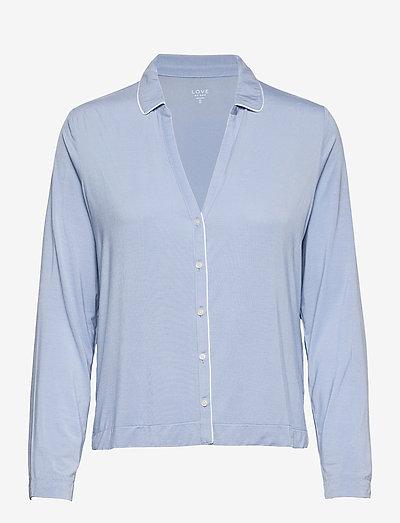 Adult Truesleep Button-Front Top in Modal - tops - bleach blue
