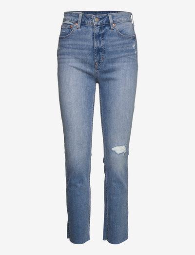 VINTAGE SLIM SKH LT CHAPEL DEST SIDE SLIT - slim jeans - light indigo 6