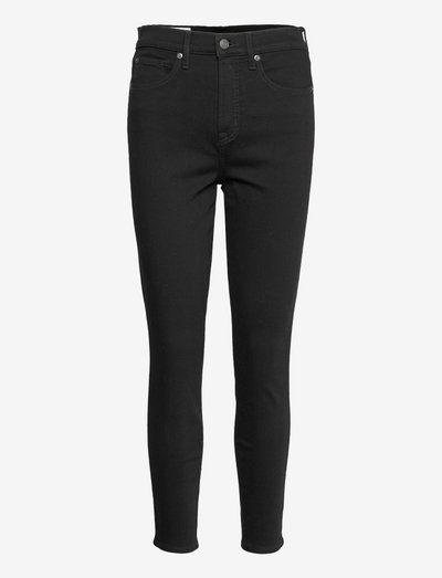 High Rise True Skinny Jeans with Secret Smoothing Pockets - skinny jeans - absolute black