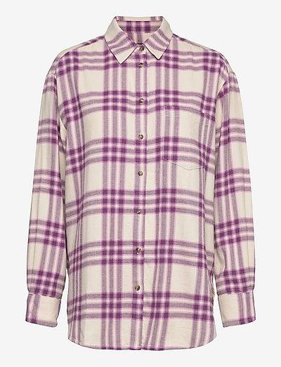 LS FLANNEL OS SHIRT - långärmade skjortor - purple plaid