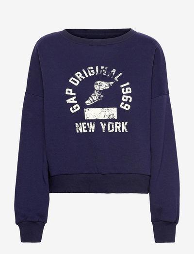 GAP DROP SHDLR PO CR - sweatshirts - navy uniform