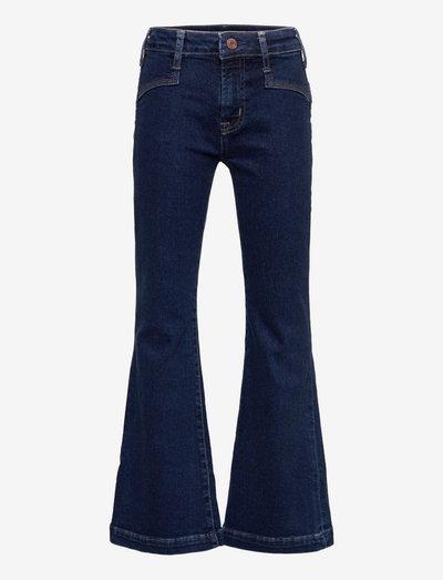 HR FLARE - DK FRONT YOKE - jeans - dark wash