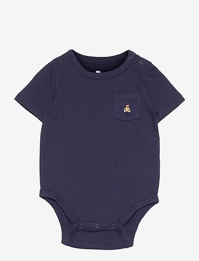 Baby 100% Organic Cotton Mix and Match Bodysuit - kortærmede - navy uniform