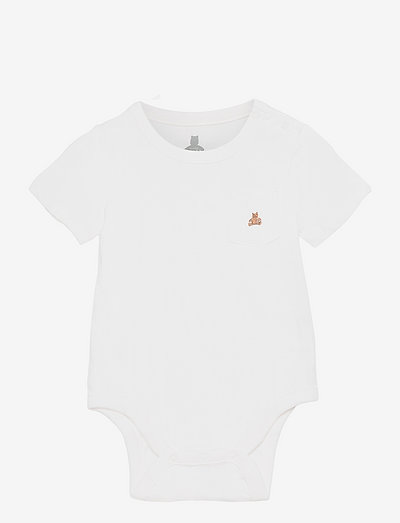 Baby 100% Organic Cotton Mix and Match Bodysuit - kortærmede - new off white