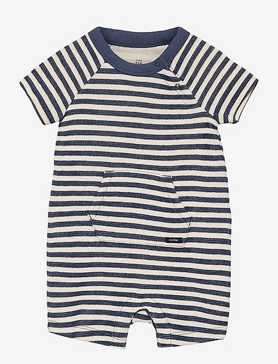 Baby Stripe Shorty One-Piece - kortærmede - blue shade