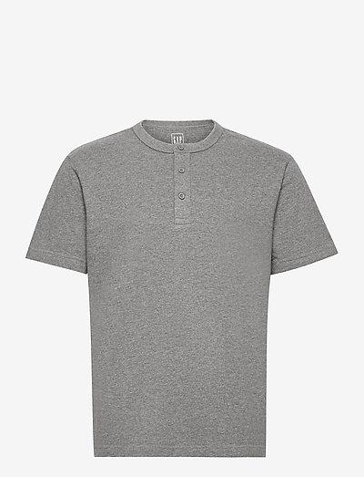 Henley T-Shirt - basic t-shirts - b30 grey heather