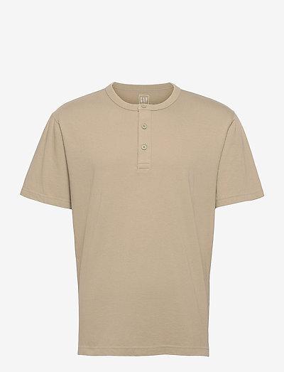Henley T-Shirt - basic t-shirts - gale green