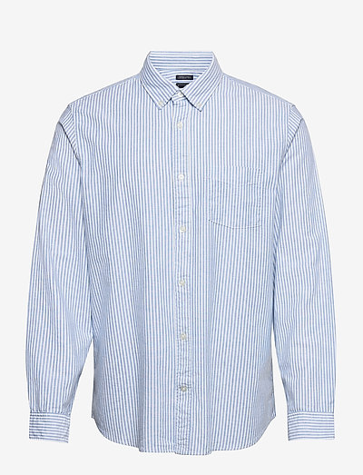 Lived-In Stretch Oxford Shirt - oxford overhemden - blue stripe
